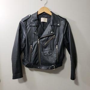 Zara Basic * Faux Leather Biker Jacket *